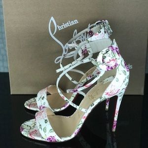 de839928f9 Christian Louboutin Shoes - Christian Louboutin Choca Floral Snake Red Sole